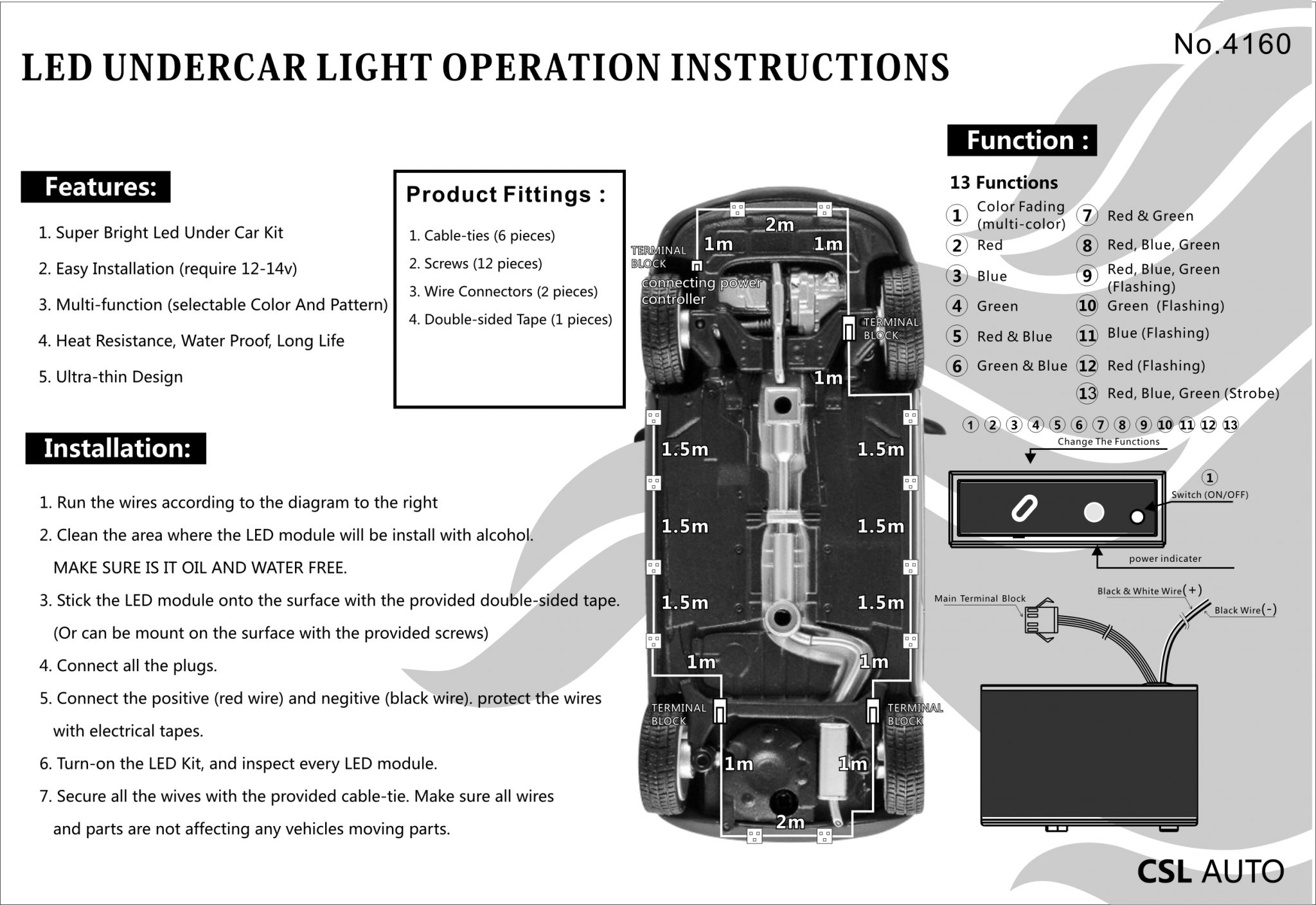4160 – LED Under Car 12pc/Kit