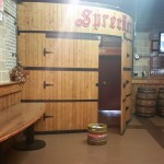 An exit in the Sprecher Tasting Room