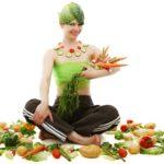 adulto con verduras