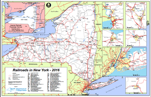 Map or Railroads in New York State 2016