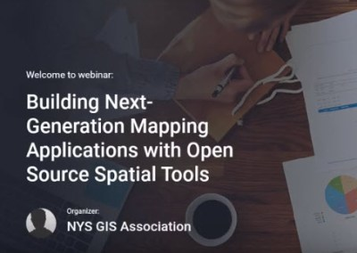 Building Next-Generation Mapping Applications with Open Source Spatial Tools