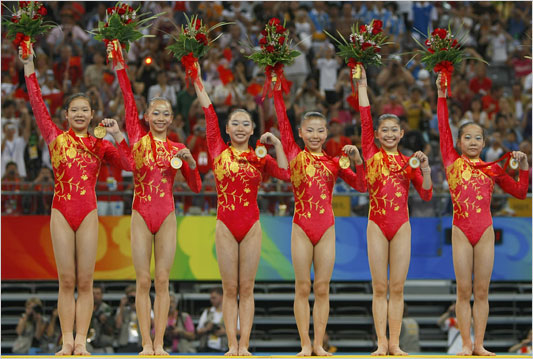 Chinese womens artistic gymnastics Olympic team, Beijing 2008