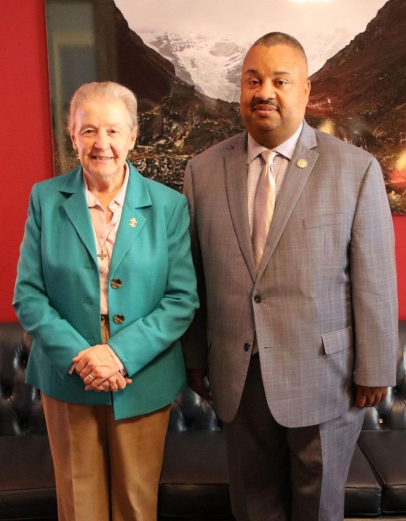 Sister Mary pays visit to the office of Congressman Donald M. Payne Jr.