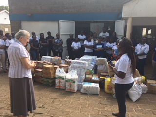 Westcon Comstor staff delivery donations to Nyumbani