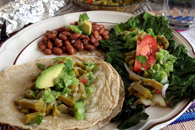 """""""Taco Nopal"""" by Yesica is licensed under a Creative Commons Attribution 4.0 International License."""