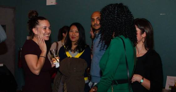 NWNY founder and director Arielle Kandel speaks with guests at the 2016 Winter Bash.
