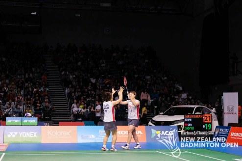 Ayako Sakuramoto & Yukiko Takahata - Evan Xiao for Badminton NZ