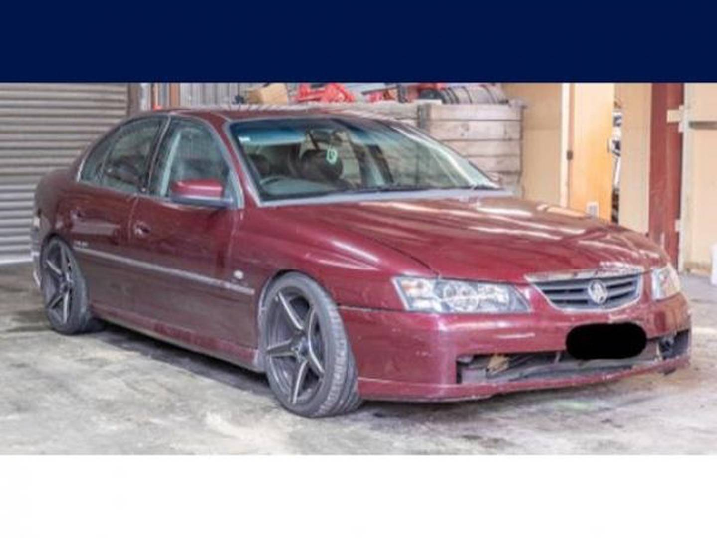 Police want to hear from anyone who saw the pictured maroon coloured Holden Commodore in the days before the incident on Monday. Photo / Supplied
