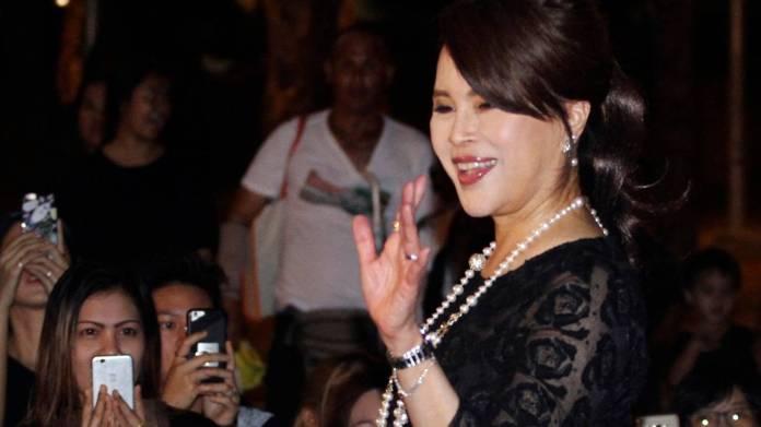 Thai Princess Ubolratana Mahidol waves to Thai people outside Grand Palace in Bangkok , Thailand. Photos / AP file
