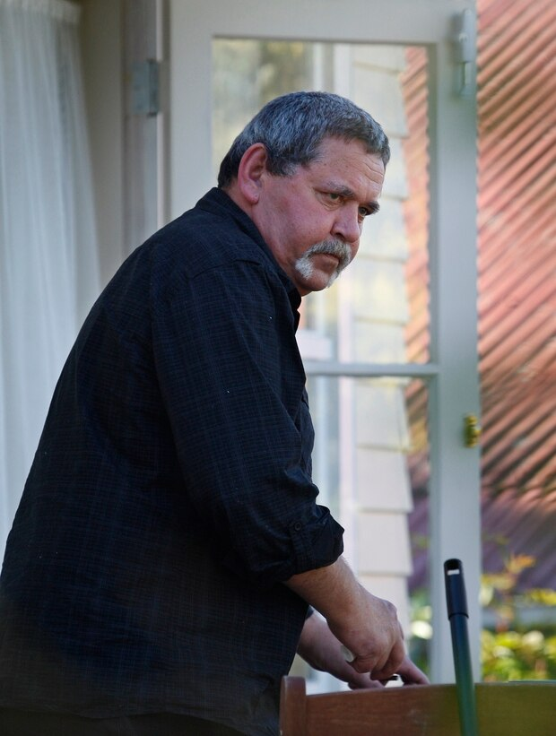 Tamihere at his home in Auckland after he was released from jail in 2010. Photo / Sarah Ivey