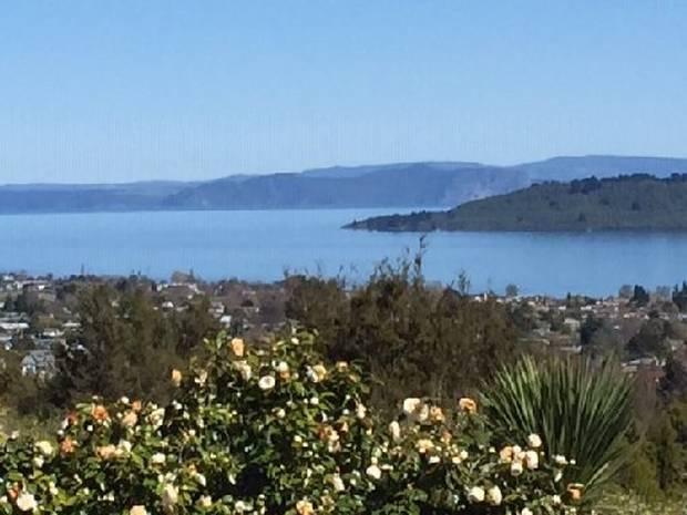 Lake Taupo from the Waipahihi Botanical Reserve.
