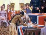 The Treaty of Waitangi is signed