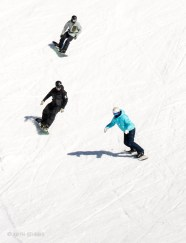 Claire Dooney, Richie Johnston and Leo Carey riding Captains at Cardrona - by Keith Stubbs