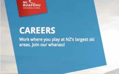 Mt Ruapehu are recruiting