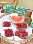 Pastèque et fraises