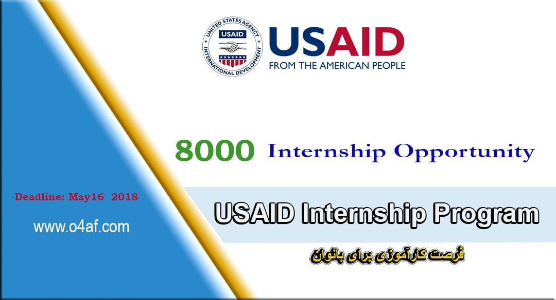 8000 Internship opportunity in Afghanistan