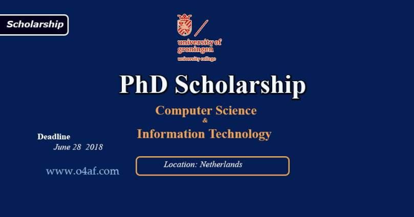 PhD Scholarship in University of Groningen, Netherlands
