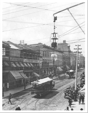 Yonge Street pre-1900 with horse-drawn streetcar Credit: Chuckman's Other Collection volume 4