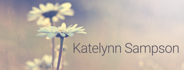 Katelynn Sampson website statement banner