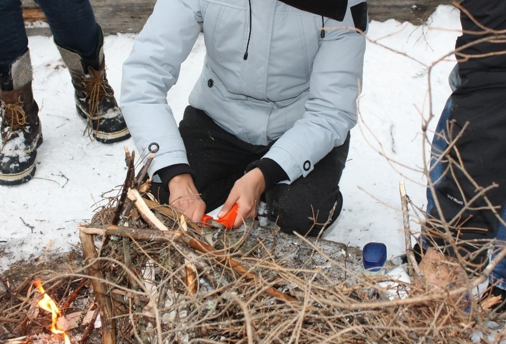 Winter leadership camp for Indigenous youth in care