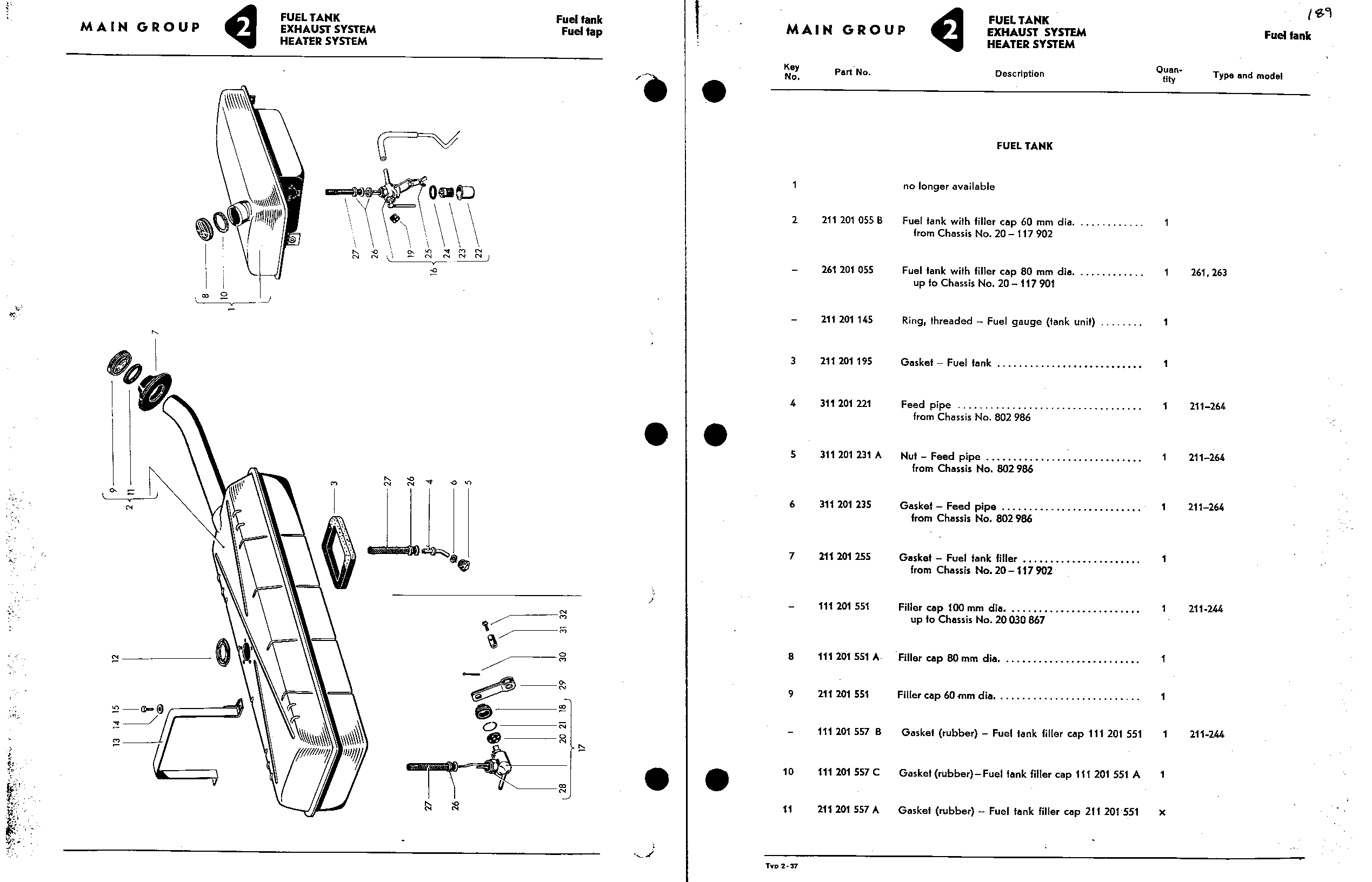 Obsolete Air Cooled Documentation Project Type 2 Parts