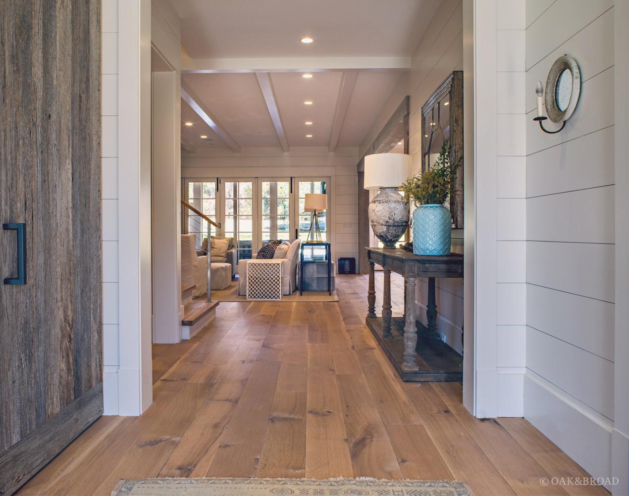 modern farmhouse flooring oak and broad