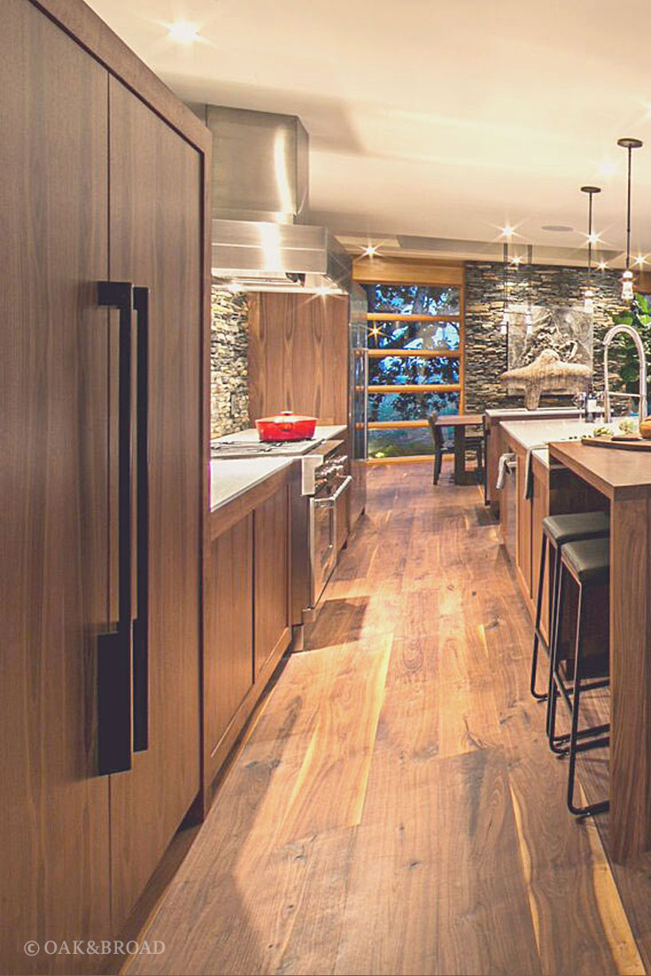 Stunning Contemporary Home With Wide Plank Black Walnut Floor