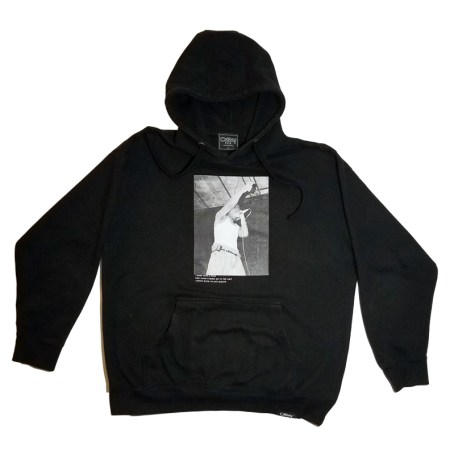Oakbay Fits Mens Tupac Collection hoodie black front
