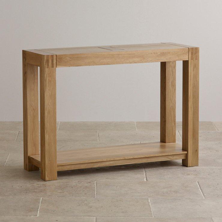 Alto Console Table In Natural Solid Oak Oak Furniture Land