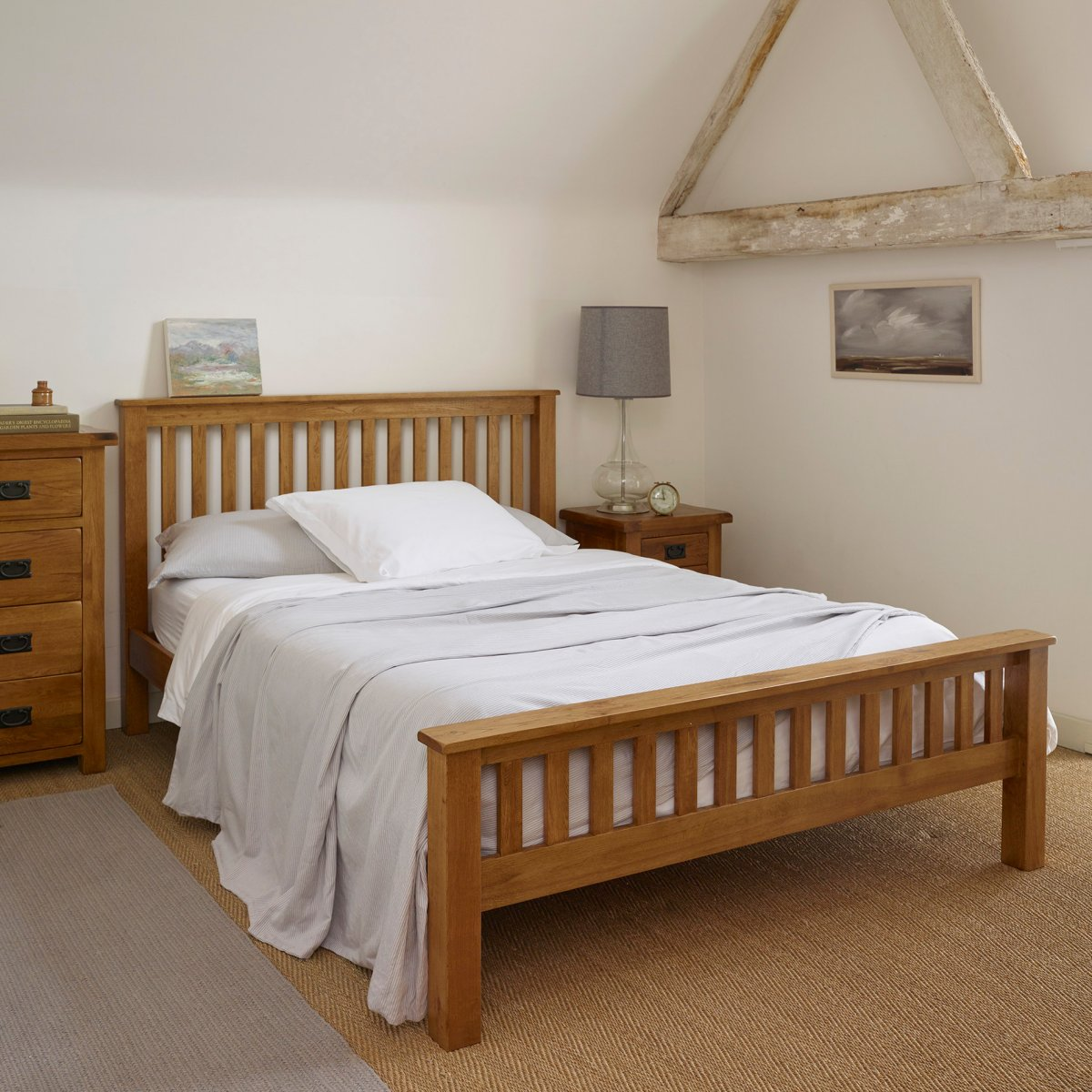 the original rustic solid oak 5ft king size bed
