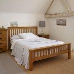 Rustic King Size Bed In Solid Oak Oak Furnitureland