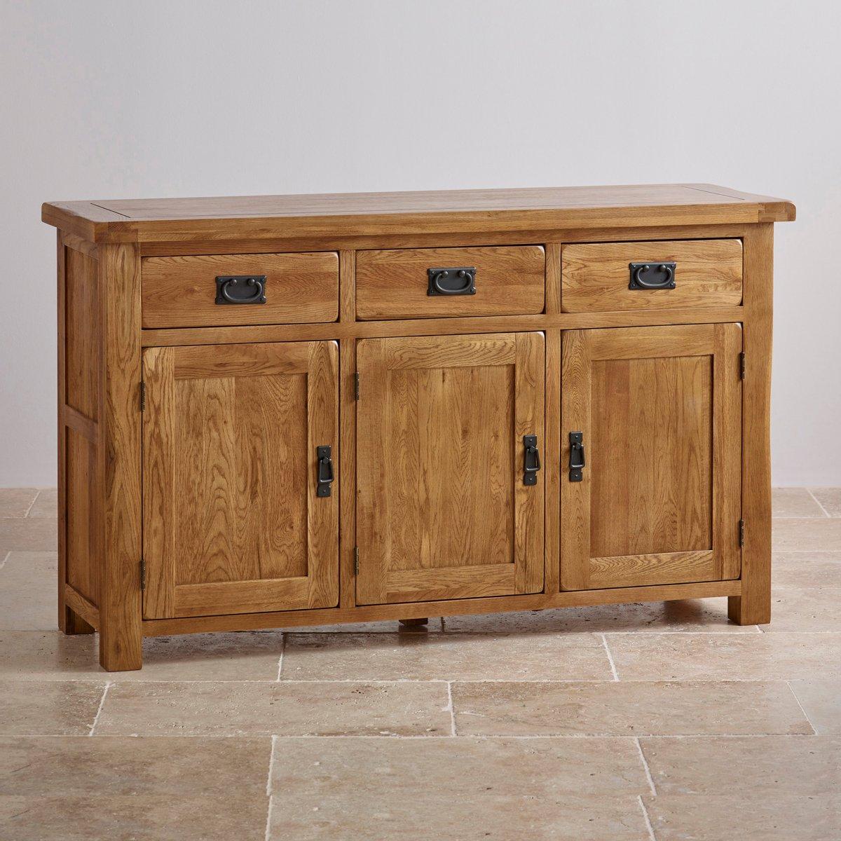 Original Rustic Large Sideboard In Solid Oak Oak Furniture Land