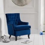 Belsize Blue Velvet Armchair