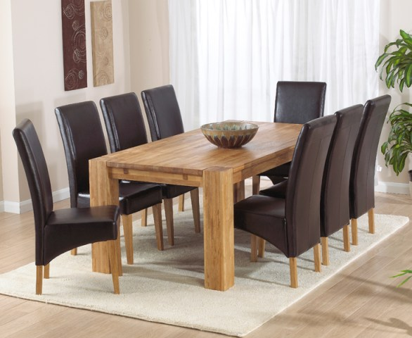Madrid 200cm Solid Oak Extending Dining Table with Cannes Chairs