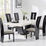 Raphael 200cm White Pedestal Marble Dining Table With Verbier Chairs
