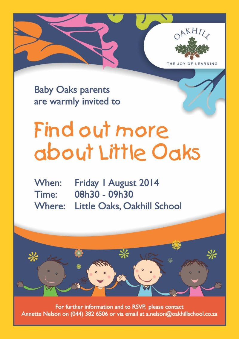 Meet with Baby Oaks Parents Poster