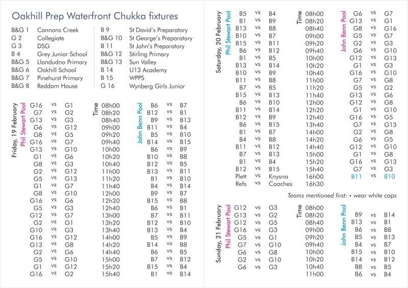 Oakhill_Prep Chukka_2016-fixtures