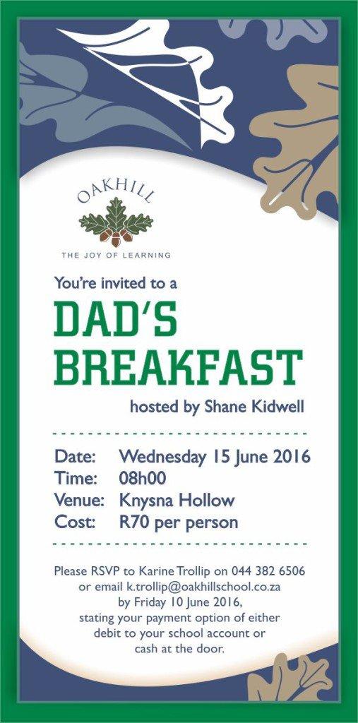 Dads Breakfast 2016