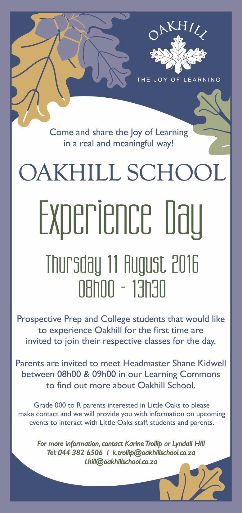 Experience-Oakhill-Invite-2016