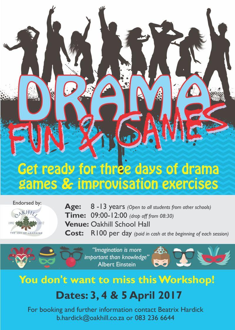 A3 Poster Prep Drama Workshop