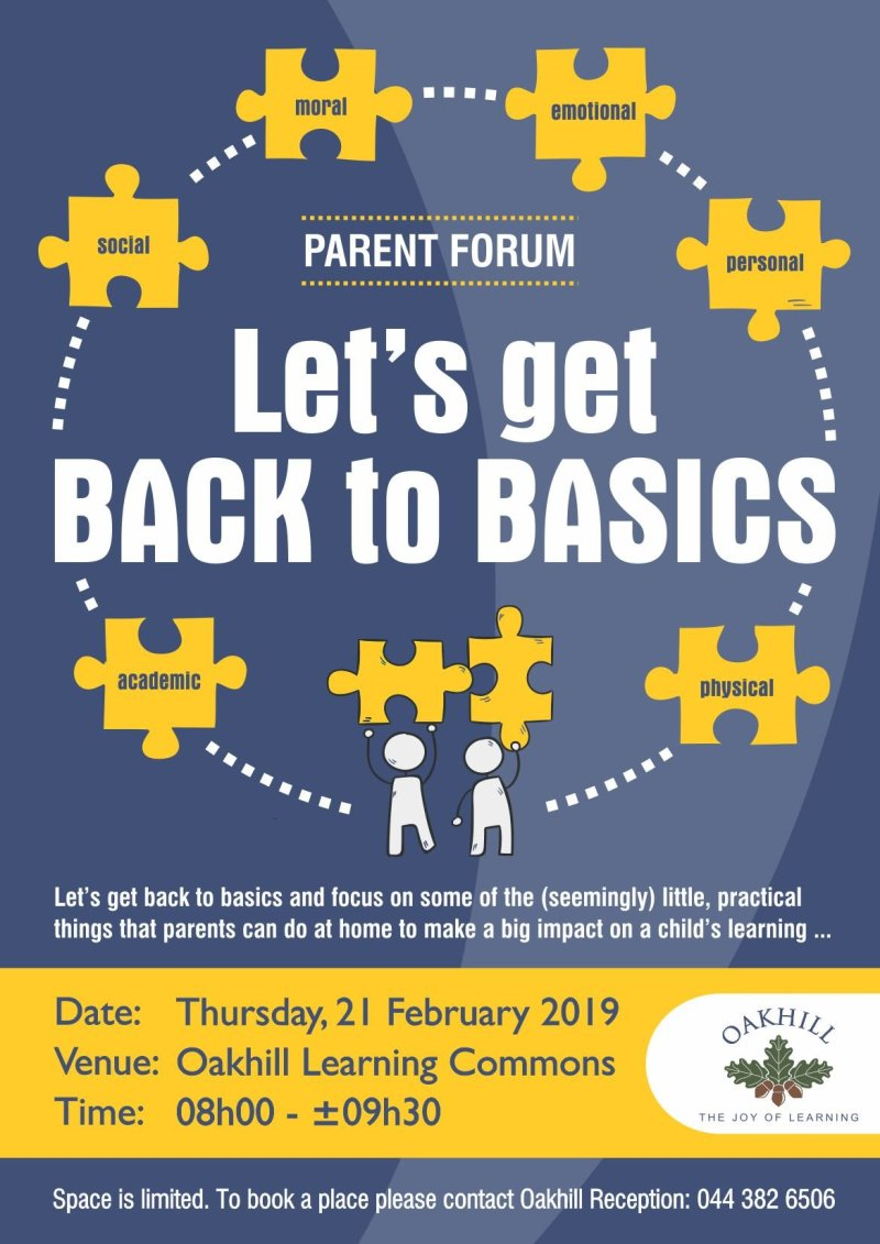 PARENT FORUM - Back to Basics