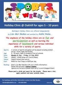 Oakhill Sports Clinic July 2019