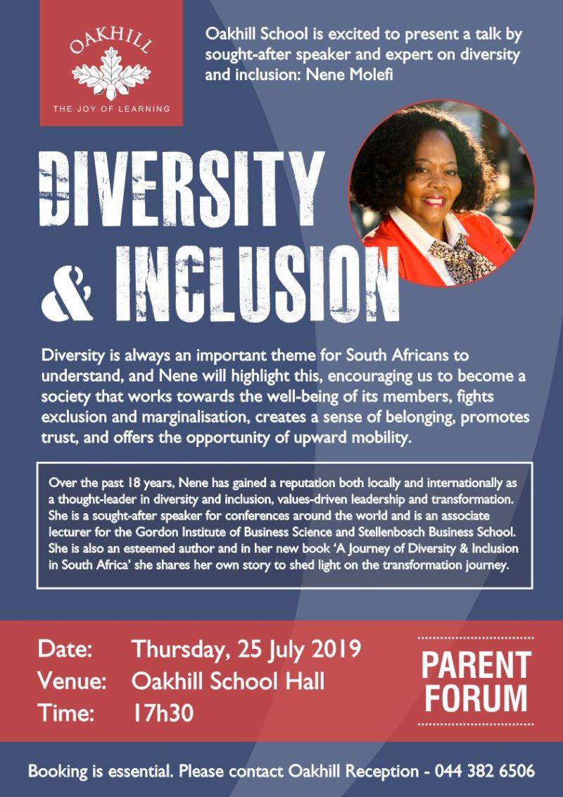 Parent Forum - Nene Molefi Diversity and Inclusion_low res