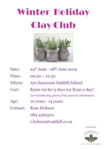 Winter Holiday Clay Club - June 2019