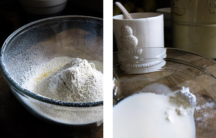 Sifted Flour and soda