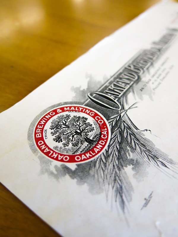 Oakland Brewing Letterhead