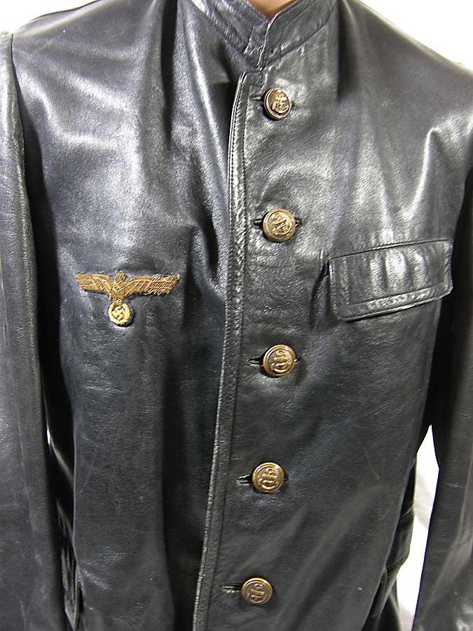 Kriegsmarine Officer S Black Leather Foul Weather Jacket