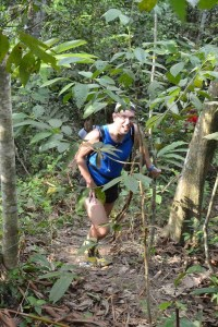 Denis on a run with the Hash House Harriers