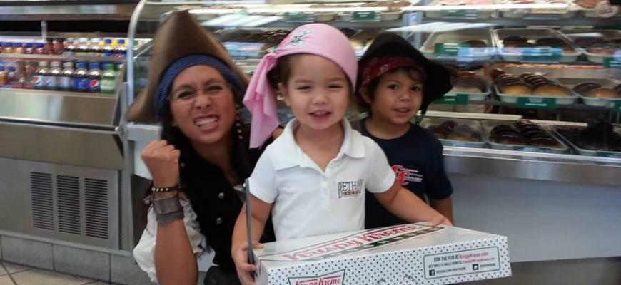 OakMonster.com - Talk Like A Pirate Day - Krispy Kreme - Captain Bubbles