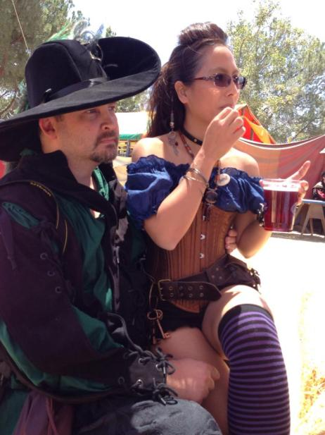 OakMonster.com - Lord of Chaos and Captain Bubbles at the Renaissance Pleasure Faire